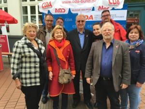 Neben mir die Landtagsabgeordnete der CDU, Rita Klöpper